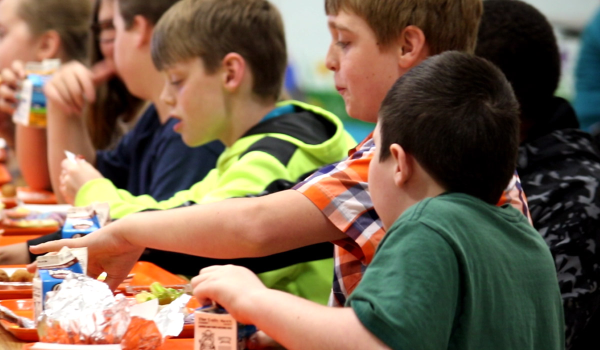 Westhardin elementary student having lunch